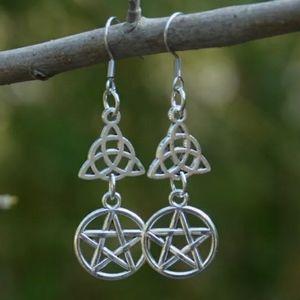 Triquetra celtoc knot w pentagram earrings…